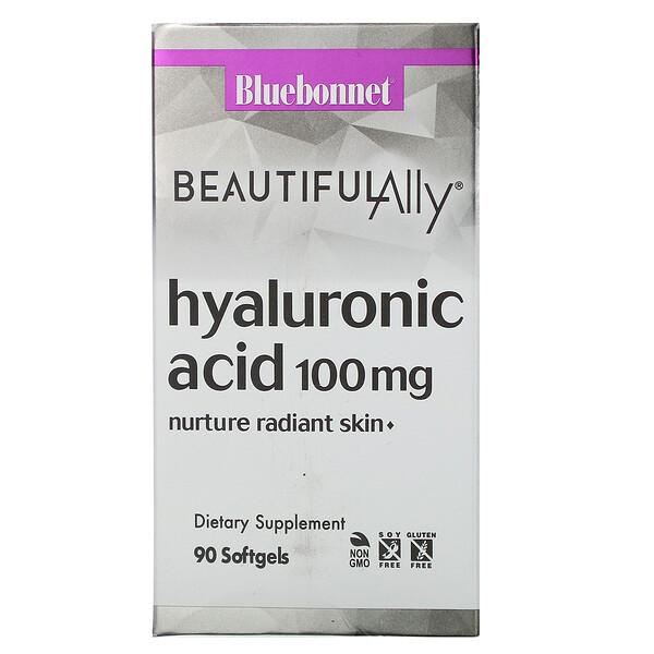 Bluebonnet Nutrition, Beautiful Ally, Hyaluronic Acid, 100 mg , 90 Softgels