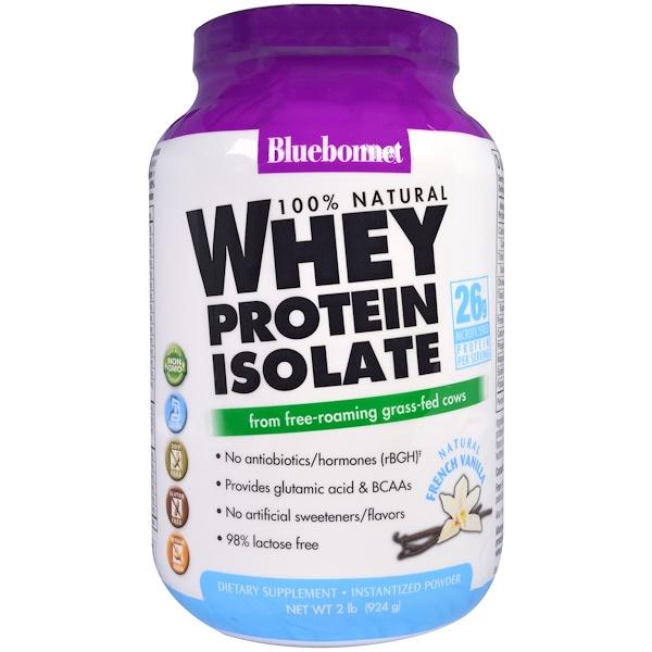 100 % натуральный изолят сывороточного белка, с натуральным оригинальным вкусом, 924 г (2 фунта)