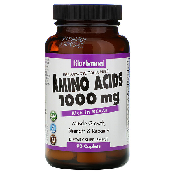 Аминокислоты, 1000 мг, 90 капсуловидных таблеток