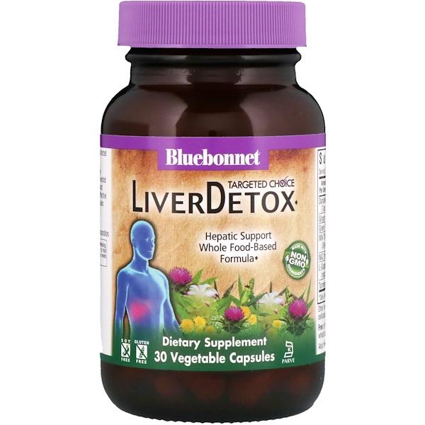 Bluebonnet Nutrition, Целенаправленный выбор, детоксикация печени, 30 вегетарианских капсул (Discontinued Item)
