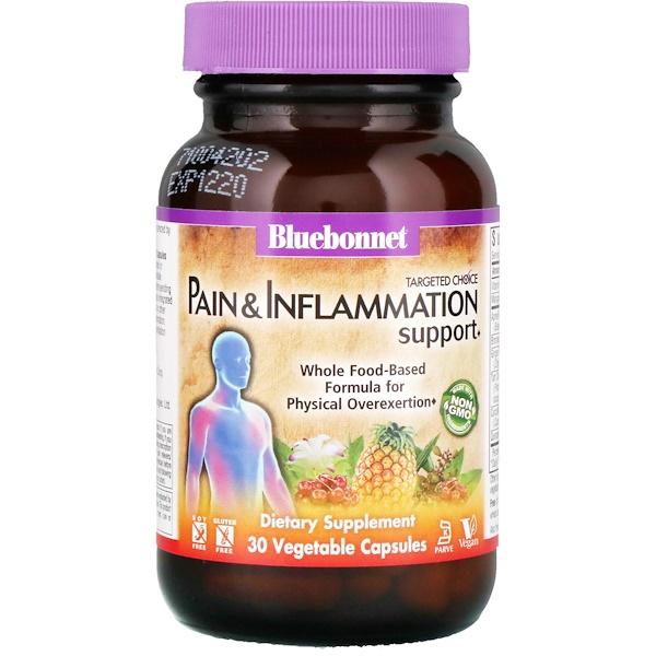 Bluebonnet Nutrition, Целенаправленный выбор, улучшение состояния при боли и воспалении, 30 вегетарианских капсул (Discontinued Item)