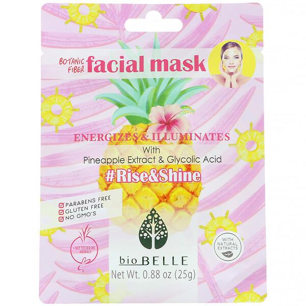 #Rise&Shine, тканевая растительная маска для лица, заряжает энергией и дарит сияние, 1шт., 25г (0,88унции)