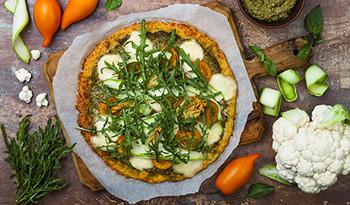 Вкусная и полезная безглютеновая основа для пиццы из цуккини
