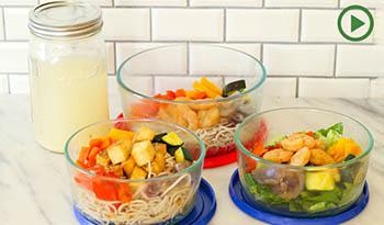 Здоровые обеды на работе: контейнеры для еды Mix n' Match Teriyaki