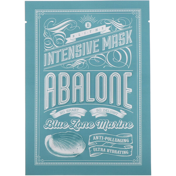 Blithe, Blue Zone Marine, Intensive Mask, Abalone, 8 Sheets, 0.88 oz (25 g) Each (Discontinued Item)
