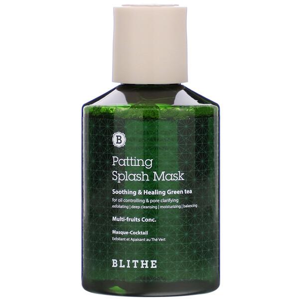 Patting Splash Mask, маска с успокаивающим и заживляющим зеленым чаем, 150мл (5,07жидк.унции)