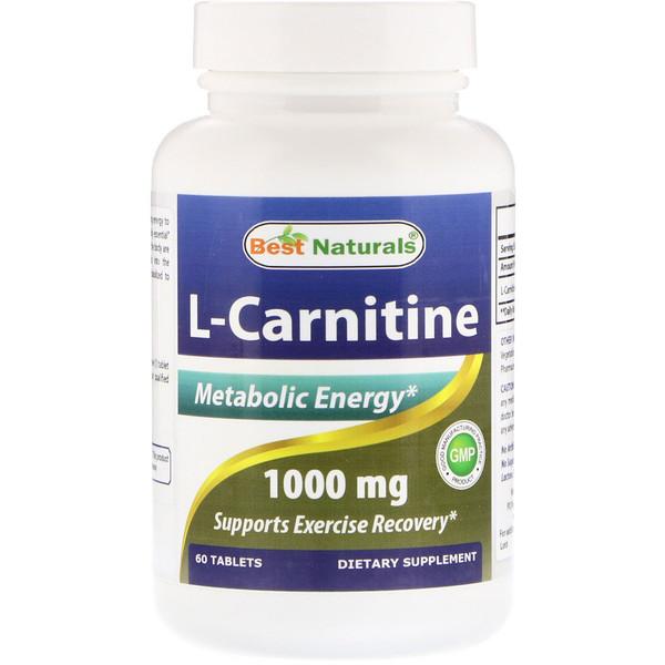 Best Naturals, L-карнитин, 1000мг, 60таблеток (Discontinued Item)