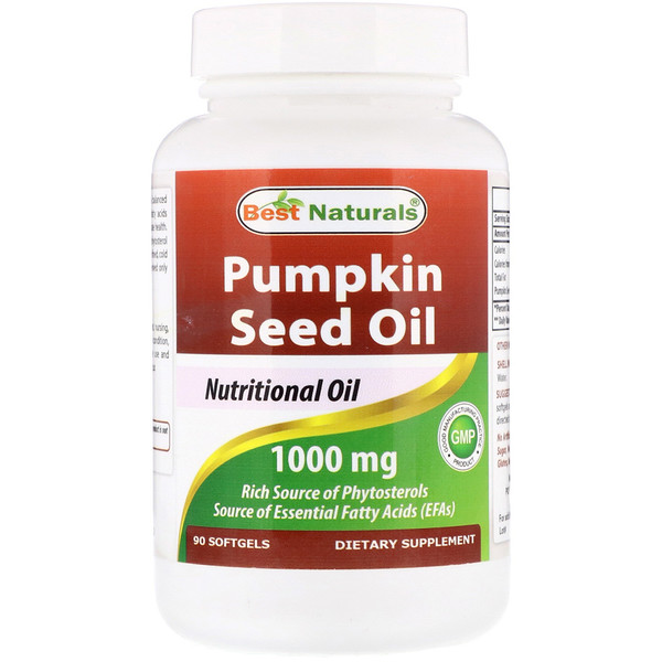 Best Naturals, Pumpkin Seed Oil, 1000 mg,  90 Softgels (Discontinued Item)