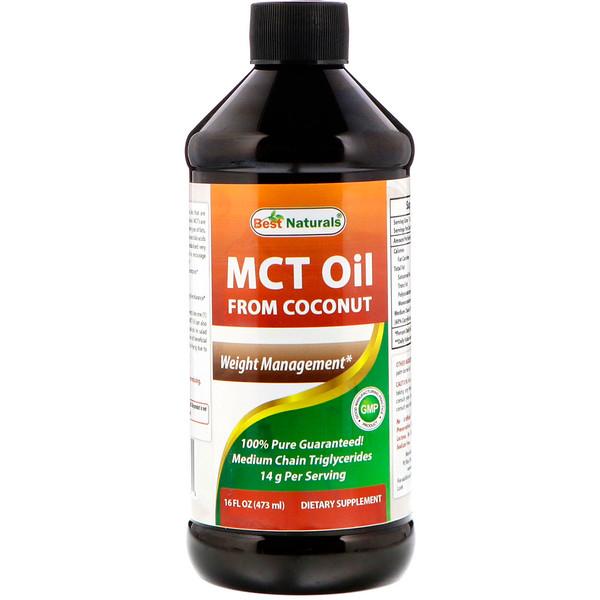 Best Naturals, Среднецепочечные триглицериды кокосовго масла, 16 ж. унц. (473 мл) (Discontinued Item)