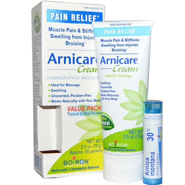 Крем Arnicare, избавление от боли, без запаха, 2,5 унций (70 г), прибл. 80 гранул