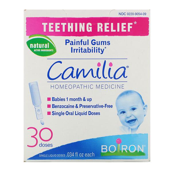 Camilia, облегчение боли при прорезывании зубов, 30 жидких доз, 0,034 жидкой унции каждая