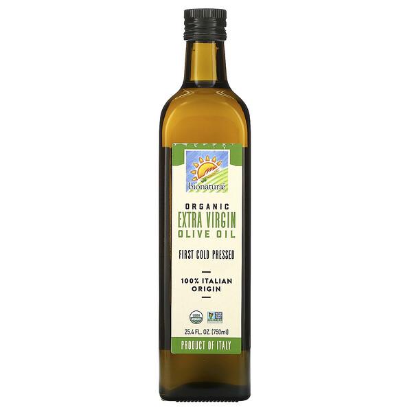 Органическое оливковое масло первого холодного отжима, 750 мл (25,4 жидкой унции)