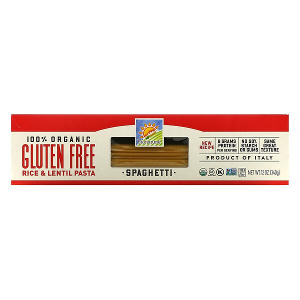 Bionaturae, 100% органические макаронные изделия из риса и чечевицы без глютена, спагетти, 340г (12унций)
