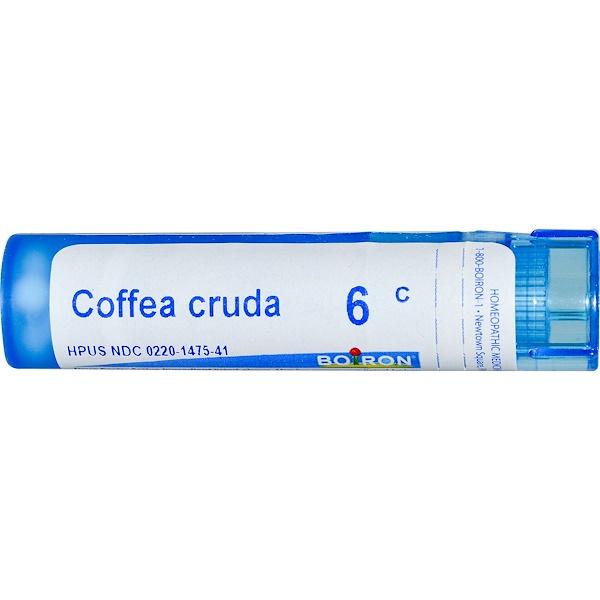 Boiron, Single Remedies, Кофе необработанный, 6C, прибл. 80 гранул (Discontinued Item)