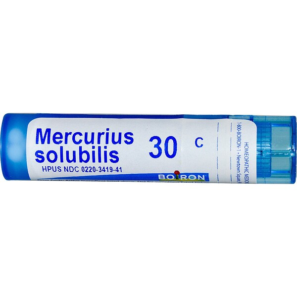 Boiron, Single Remedies, Меркуриус солюбилис, 30C, прибл. 80 гранул