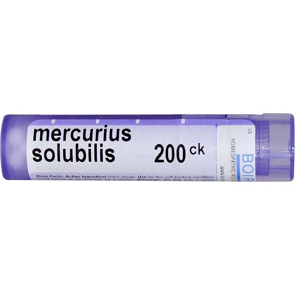 Boiron, Single Remedies, Меркуриус солюбилис, 200CK, прибл. 80 гранул (Discontinued Item)
