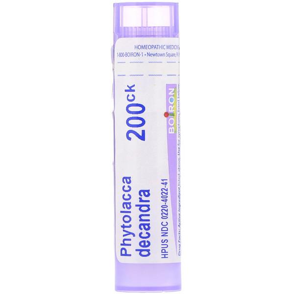 Boiron, Single Remedies, Фитолакка декандра, 200 СК, прибл. 80 гранул (Discontinued Item)