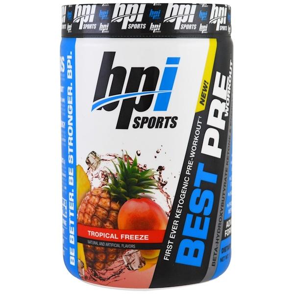 BPI Sports, Best Pre Workout, Beta-Hydroxybutyrate Ketone & Energy Formula, Tropical Freeze, 11.11 oz (315 g)