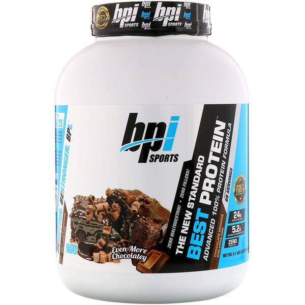 Лучший протеин, передовая формула 100%-ного протеина, шоколадное брауни, 5,1 фунта (2329 г)