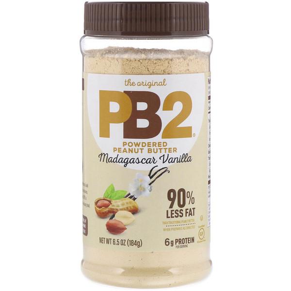PB2 Foods, The Original PB2, арахисовое масло в виде порошка, мадагаскарская ваниль, 6,5 унц. (184 г) (Discontinued Item)