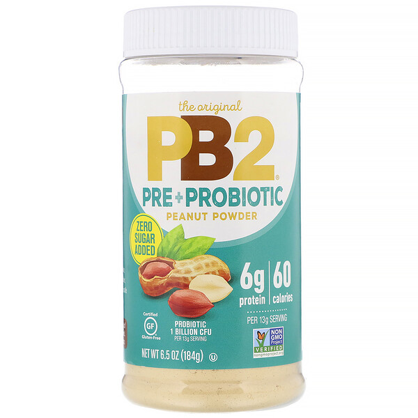 The Original PB2, арахисовый порошок с пре- и пробиотиками, 184г (6,5унции)