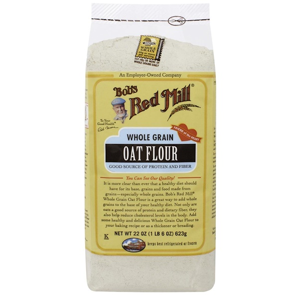 Bob's Red Mill, Oat Flour, Whole Grain, 22 oz (623 g) (Discontinued Item)