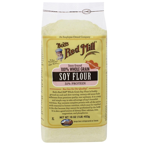 Bob's Red Mill, Soy Flour, 100% Whole Grain, 16 oz (453 g) (Discontinued Item)