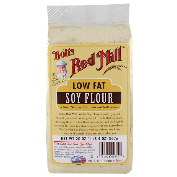 Bob's Red Mill, Soy Flour, Low Fat , 20 oz (567 g) (Discontinued Item)