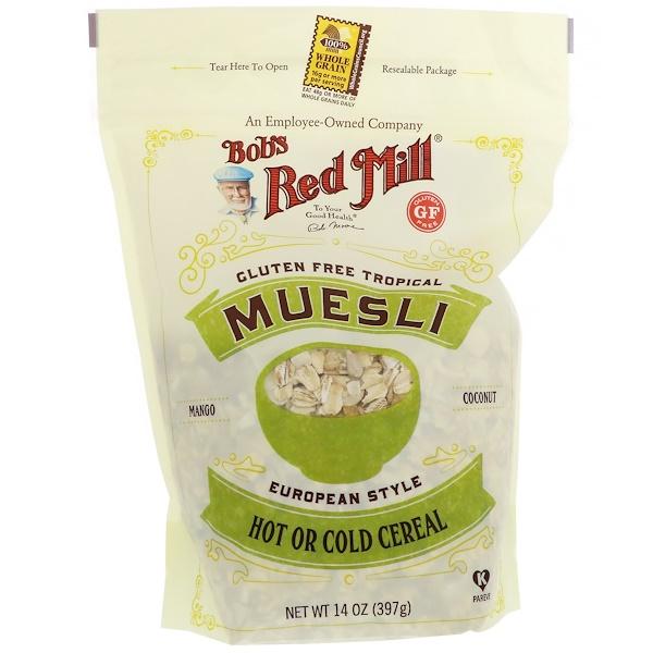 Bob's Red Mill, Muesli, Tropical, Gluten Free, 14 oz (397 g)