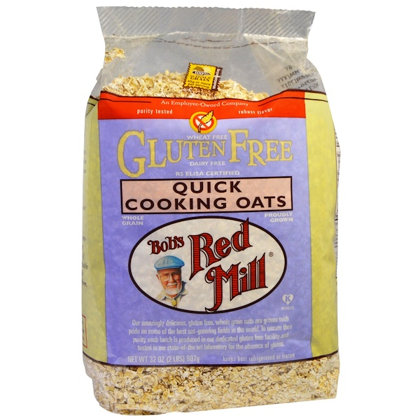 Bob's Red Mill, Quick Cooking Oats, Gluten Free, 32 oz (907 g) (Discontinued Item)