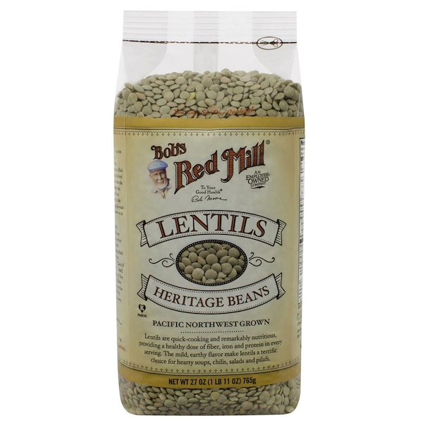 Bob's Red Mill, Lentils Heritage Beans, 27 oz (765 g) (Discontinued Item)