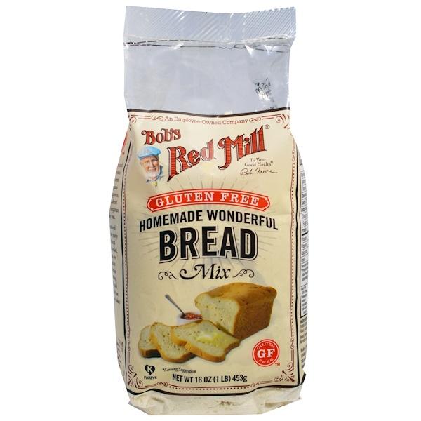 Bob's Red Mill, Homemade Wonderful Bread Mix, без глютена, 453 г (Discontinued Item)