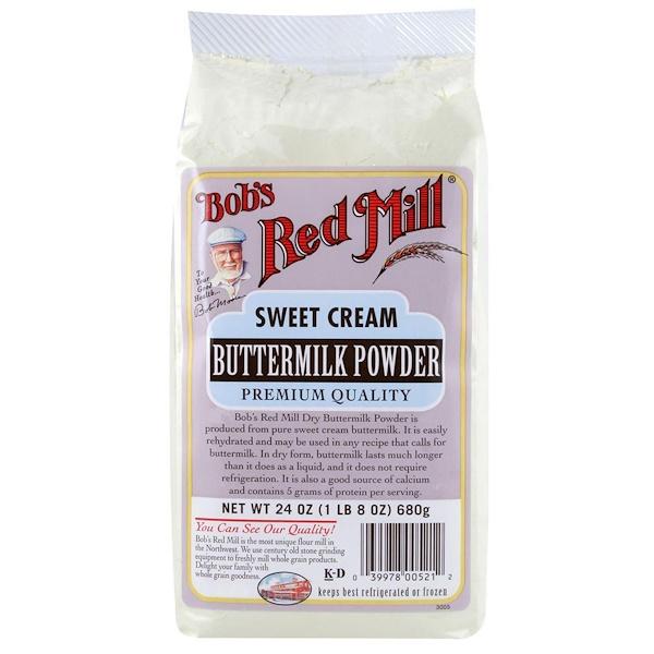 Bob's Red Mill, Buttermilk Powder, Sweet Cream, 24 oz (680 g) (Discontinued Item)