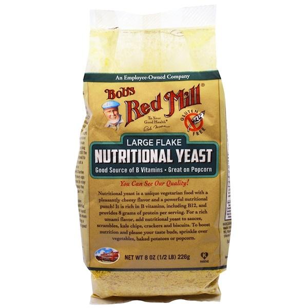 Bob's Red Mill, Крупные хлопья питательных пищевых дрожжей, 8 унций (226 г) (Discontinued Item)