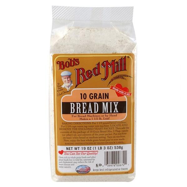 Bob's Red Mill, 10 злаков, смесь для выпечки хлеба, 19 унций (538 г) (Discontinued Item)