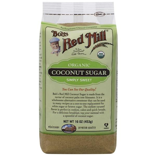 Bob's Red Mill, Органический кокосовый сахар, 16 унций (463 г) (Discontinued Item)