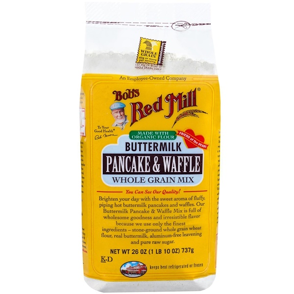 Bob's Red Mill, Buttermilk Pancake & Waffle Mix, Whole Grain, 26 oz (737 g) (Discontinued Item)