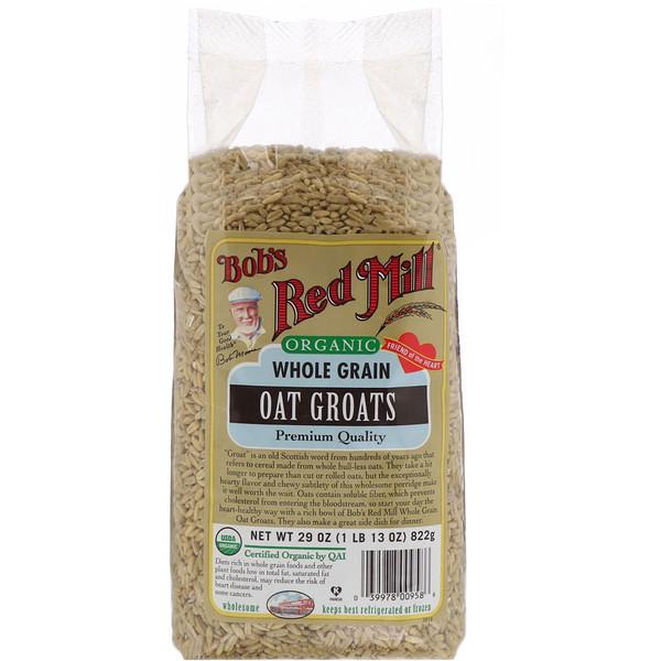 Bob's Red Mill, Organic Grain Oat Groats, Whole Grain, 29 oz (822 g) (Discontinued Item)