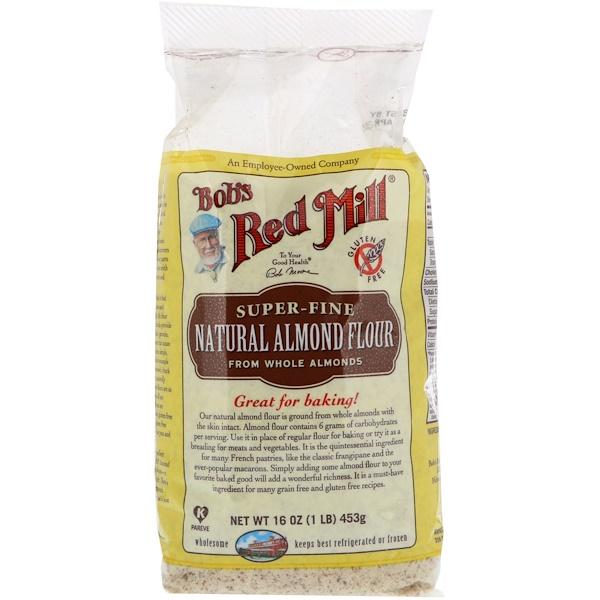 Bob's Red Mill, Натуральная миндальная мука, сверхтонкая, 16 унц. (453 г) (Discontinued Item)