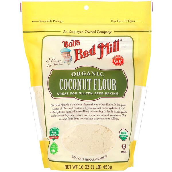 Bob's Red Mill, Органическая кокосовая мука, без глютена, 453г (16унций)