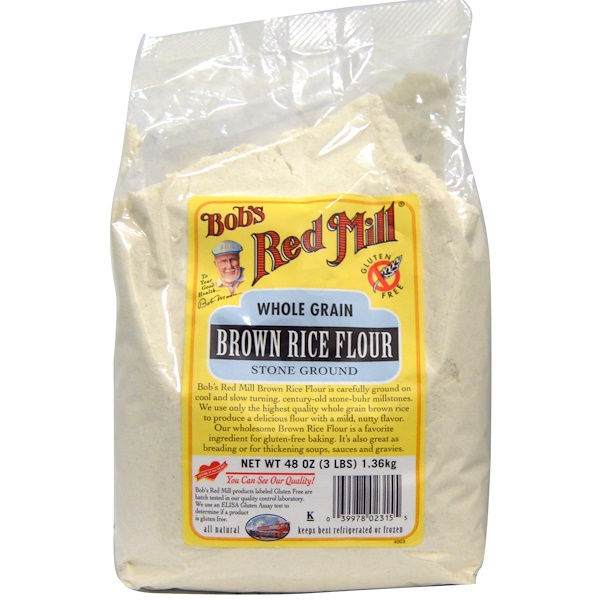 Bob's Red Mill, Brown Rice Flour, Whole Grain, 48 oz (1.36 kg) (Discontinued Item)