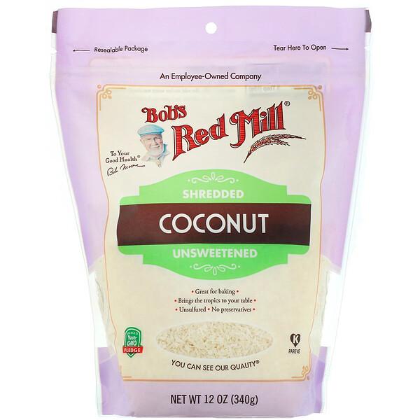 Bob's Red Mill, Кокосовая стружка, без сахара, 340г