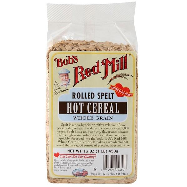 Bob's Red Mill, Спельта плющенная, Hot Cereal, 16 унций (453 г) (Discontinued Item)