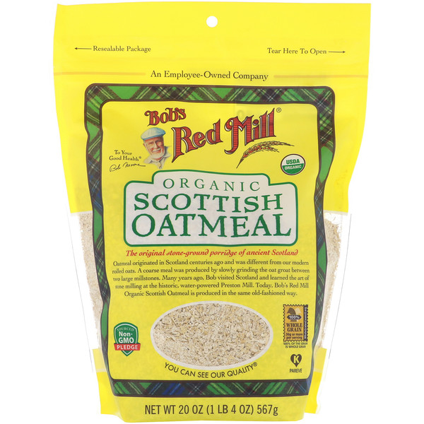 Bob's Red Mill, Organic, Scottish Oatmeal, 20 oz (567 g)
