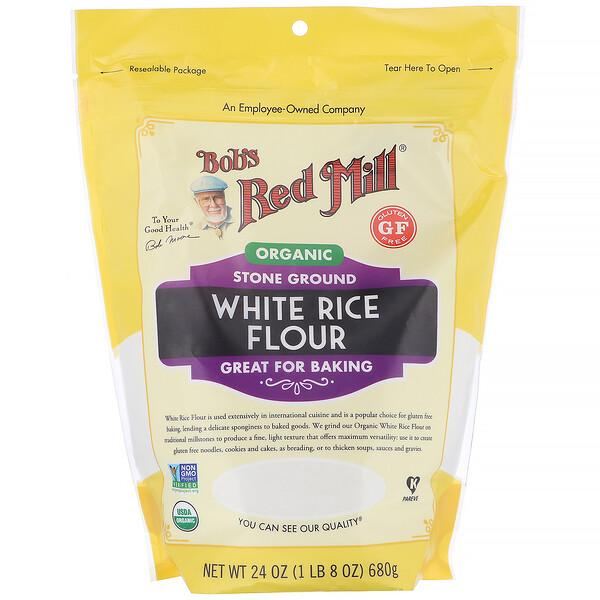 Bob's Red Mill, мука из органического белого риса, 680г (24унции)