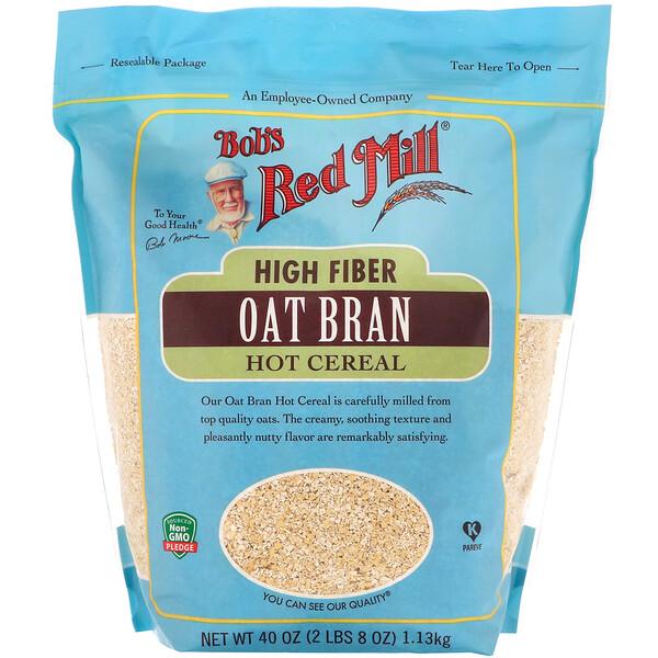 Bob's Red Mill, High Fiber Oat Bran Hot Cereal, 40 oz (1.13 kg)