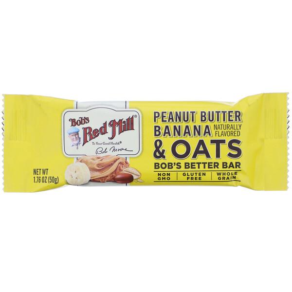 Bob's Red Mill, Bob's Better Bar, Peanut Butter Banana & Oats, 1.76 oz (50 g) (Discontinued Item)