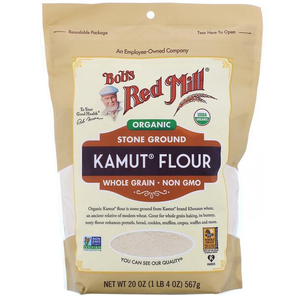 Bob's Red Mill, Органическая мука из цельнозерновой полбяной пшеницы Kamut, 567г (20унций) (Discontinued Item)