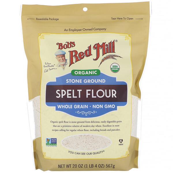 Bob's Red Mill, Органическая спельтовая мука, цельное зерно, 567г (20унций)