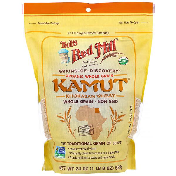 Bob's Red Mill, Kamut, органические цельные зерна, 680г (24унции)